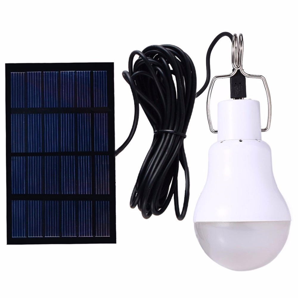 Outdoor Light 15W 130LM Solar Lamp Portable Bulb Solar Energy Lamp Led Lighting Solar Panel Camp Tent Fishing Light new multifunction rechargeable led camping light lanterns solar powered fan outdoor portable lanterns solar tent light lam lamp