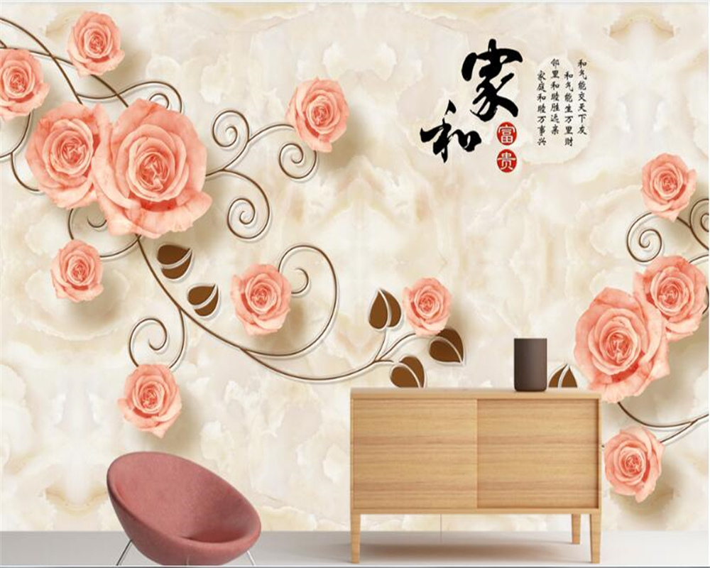 Beibehang Wallpaper 3d On The Wall Mural Custom Beautiful Floral