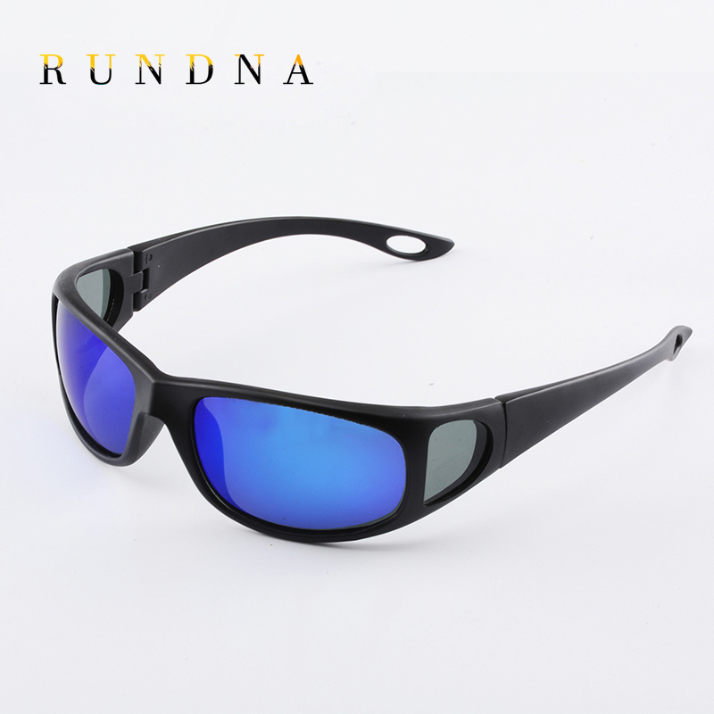 RUNDNA Polarized Cycling Sunglasses Mens Outdoor Sports Riding Bike Blue Flash Mirrored Polaroid Lens Fishing Golf Sunglasses