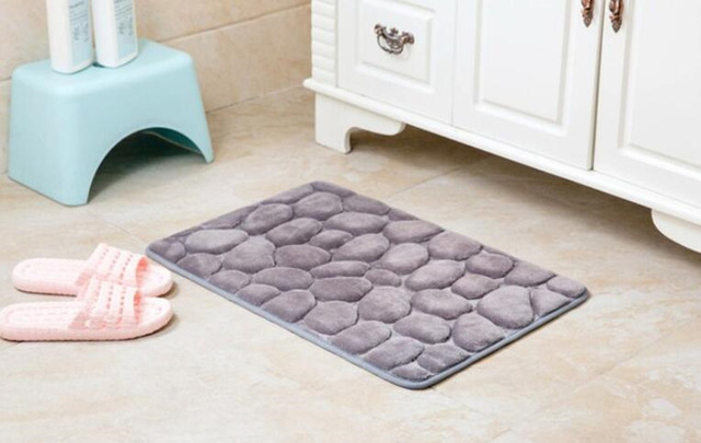 Schiuma pebble rock tappetino da bagno semplice bella grigio