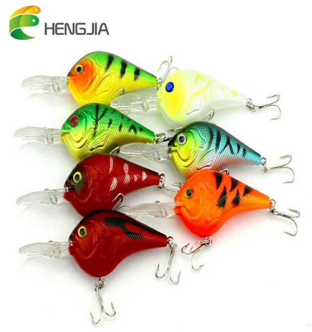 HENGJIA 9.5cm/11.2g Fishing Lure Deep Swimming Crankbait Hard Bait Tight Wobble Slow Floating Fishing Tackle
