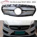 W117 Diamant Grills Front Ersatz Grille Netz für Mercedes CLA klasse CLA180 CLA200 CLA250 CLA45 AMG Diamant 2014 2016-in Rennauto-Kühlergrill aus Kraftfahrzeuge und Motorräder bei