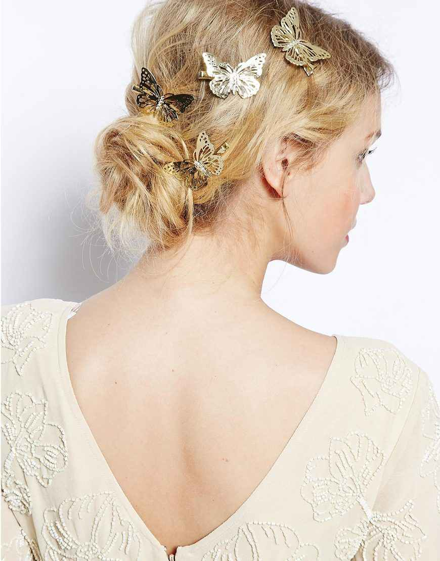 2017 Amazing Coming Gold Butterfly Hair Hair Accessories Clip Headband Hair Head Decoration Wedding Jewelry