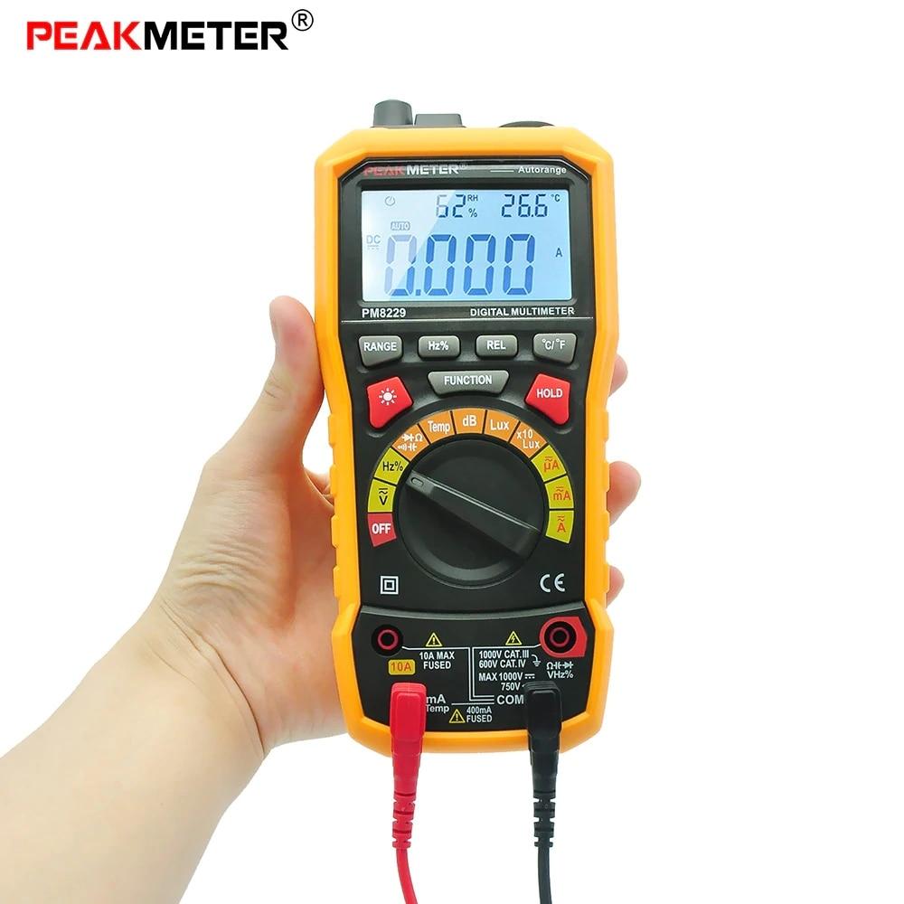 PEAKMETER MS8229 Multifunctional Digital Multimeter Auto / Manual Ranging DC AC Voltmeter Tester peakmeter ms8229 auto range 5 in 1 multifunctional handheld 2 8 auto digital multimeter
