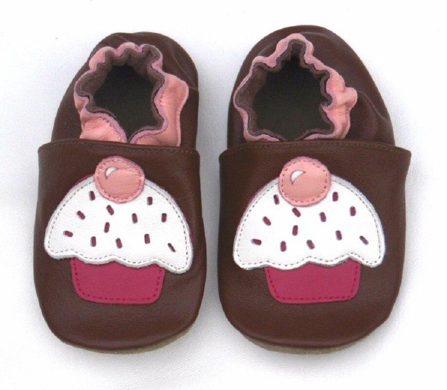Гарантированная детская обувь из натуральной кожи на мягкой подошве; 1013; обувь для маленьких девочек; обувь для новорожденных; кожаная обувь для младенцев - Цвет: cupcake