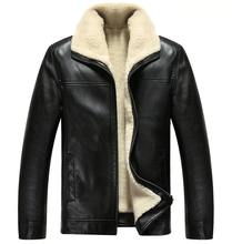 2016 Fashion Winter Jacket Men Fur Leather Jacket Thickening Mens Leather Jackets And Coats Warm in Winter Veste Cuir Homme