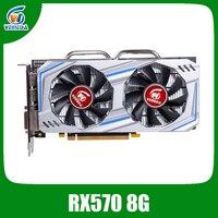Видеокарта Veineda RX 570 8GB 256Bit GDDR5 1244/7000MHz графическая карта для nVIDIA Geforce Games rx 570