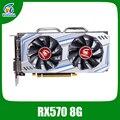 Veineda Videokaart RX 570 8GB 256Bit GDDR5 1244/7000MHz Grafische Kaart voor nVIDIA Geforce Games rx 570