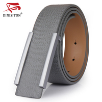 DINISITON Famous Brand Genuine Leather Belt Men S Fashion Casual Belt Smooth Buckle Waistband Trend Men