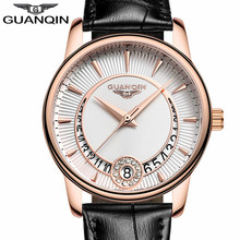 GUANQIN Watches Women's Fashion Casual Quartz Ladies Clock Leather Strap Jewelry Watches Relogio Feminino Mother's Day Gift