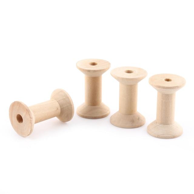 10 stücke Leere Draht Spulen Spule Gewinde Spulen Holz Farbe Draht ...