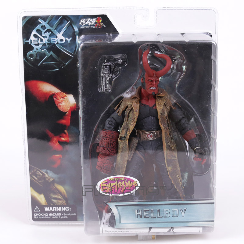 Mezco Hellboy with Weapons PVC Action Figure Collectible Model Toy 8 20cm shfiguarts batman injustice ver pvc action figure collectible model toy 16cm kt1840