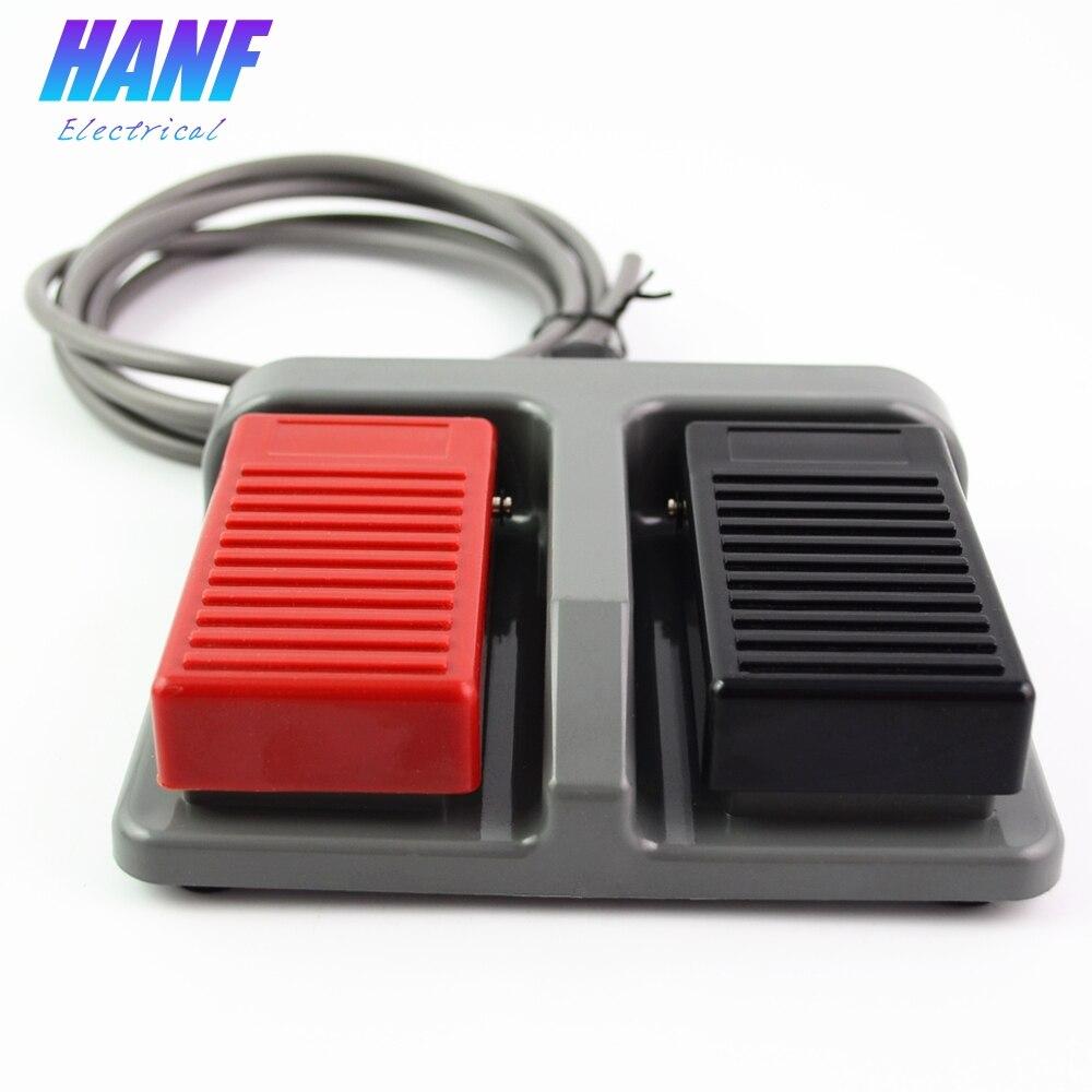 1 pcs momentary interruptor de pé plástico infinito pedal duplo duplex two-way tumbler 3A/220VAC