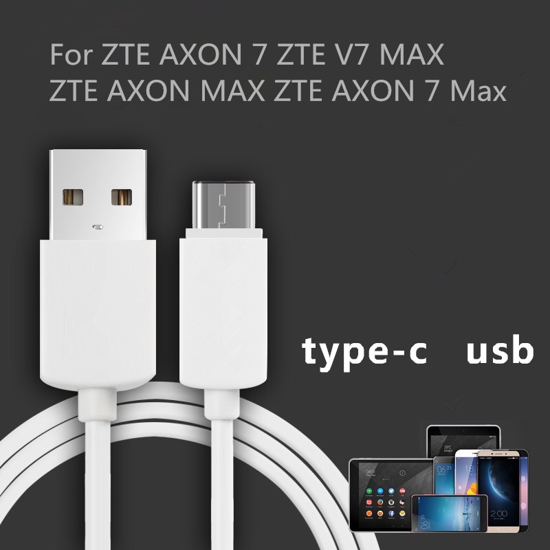 USB Type-C data cable Mobile Phone For ZTE AXON 7 ZTE V7 MAX ZTE AXON MAX ZTE AXON 7 Max 1m USB Data Charger Cable Sync