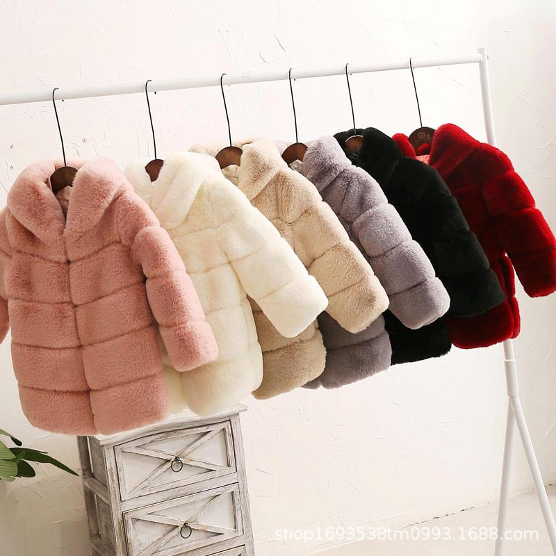 Image 2 - Dollplus New Winter Girls Fur Coat Elegant Thick Warm Baby Girl Faux Fur Jackets Coats Parka Kids Outerwear Clothes Kids Coat-in Jackets & Coats from Mother & Kids