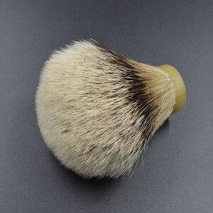 Image 3 - 26mm/67 finest silvertip Badger hair Men  beard brush head shaving brush knot for 26mm handle