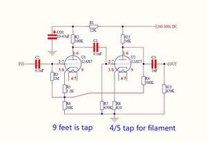 Image 2 - 12AX7 12AU7 трубчатый предусилитель для желчи, предусилитель предварительного усилителя, печатная плата, самодельная плата