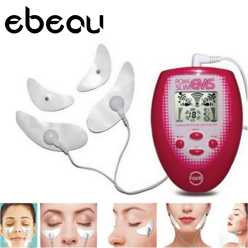 4 Pads Electrical Hands Face Slimmer Face Poke Slim Muscle