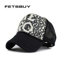 FETSBUY Summer Breathable Fashion Baseball Cap Hat Mesh Cap Baseball Hat Man Bone Women Golf Hats