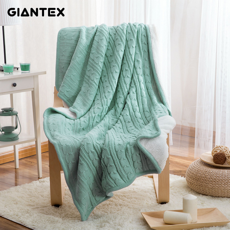 Ev ve Bahçe'ten Battaniyeler'de GIANTEX Yün Örme Kış İskandinav Atmak Battaniye Yatak Yetişkin Yatak Örtüsü üzerinde yatak kanepe manta mantas de cama koc deken'da  Grup 1