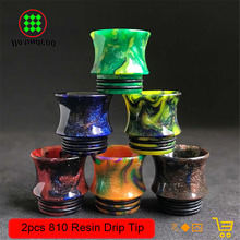 2pc/Lot electronic cigarette accessory driptip Epoxy Resin 810 drip tip smok Horn shape for smok tfv8 rda rdta atomizer