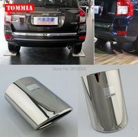 tommia High Quality T304 Stainless Steel Exhaust Muffler Tip For Jeep Compass 2013 2015