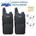 BUQUE DE RUSIA 2 Unids WLN KD-C1 5 W de largo alcance Mini Dos vías Walkie Talkie de Radio Ultra-Delgado de Moda Estación de Radio UHF 400-470 MHz