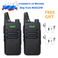 SHIP FROM RUSSIA 2PCs WLN KD-C1 5W long range Mini Two Way Radio Walkie Talkie Ultra-Thin Fashion UHF 400-470 MHz Radio Station