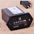 New Generator Sealed Hour Meter Counter Tractor Truck Hourmeter Rectangle DC 10V-80V for Boats Trucks Tractors Cars