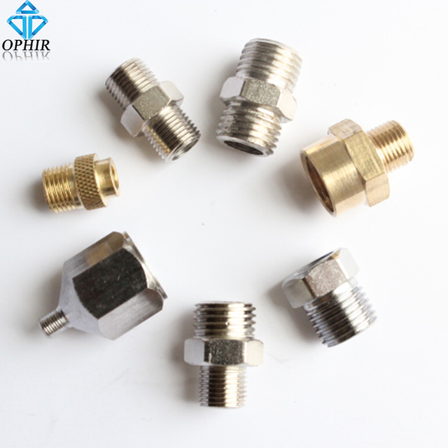 OPHIR 7x Adaptor Set Kit Airbrush Air Compressor Hose Fitting Connector Nail Art Hobby Airbrush Adapter _AC027-AC033