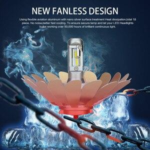Image 5 - Zdatt H7 Led פנסי H11 H4 12v LED הנורה lampadas Canbus H8 H9 9005 HB3 9006 HB4 ZES Fanless רכב אור 100W אוטומטי ערפל מנורה