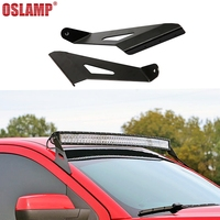 Oslamp A Pair Of Upper Windshield 50 Inch Curved Light Bar Mounts Brackets For 2014 Chevrolet