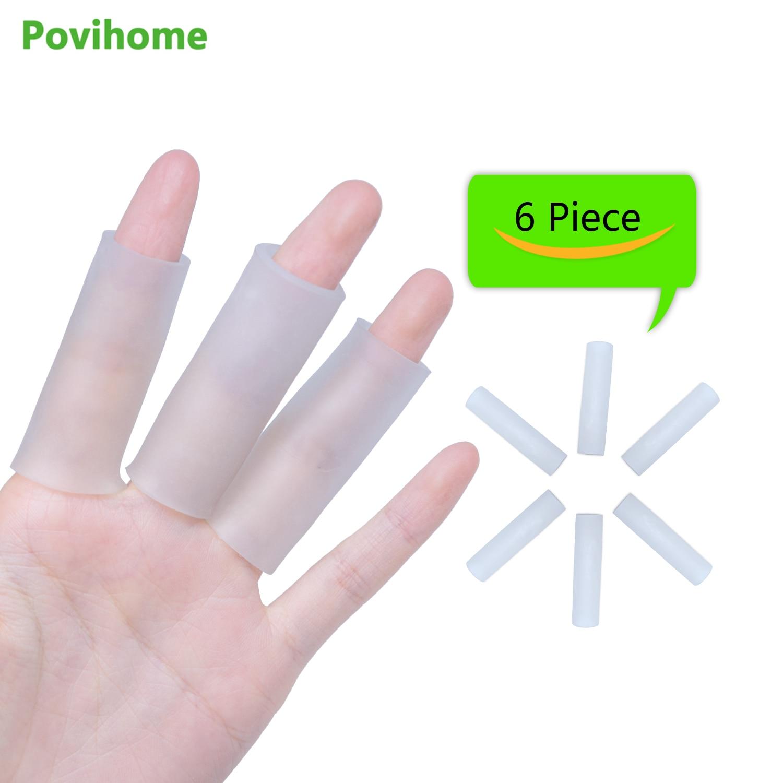 6 Pcs Öffnen Weiche Silikon Gel Rohr Finger Protector Ärmeln Separatoren Schutz Verhindern Verletzungen Haut Blasen Kallus D1323