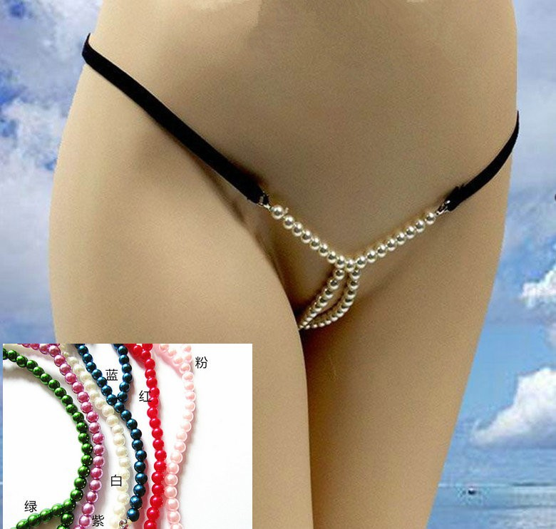 ba65d1ceede375 ... massage pearl sheer open crotch see through exotic lingerie sexy  underwear g strings thongs panties briefs t-back for woman women lover gay  sex toy