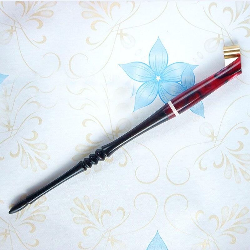 Best Christmas Gift! Rosewood Copperplate Script Antique Drop Oblique Holder Calligraphy Pen Holder with Adjustable Flange