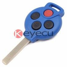 Синий Дистанционного ключа Keyless Entry Fob 3 + 1 Кнопка 315 МГц 7941 Чип для MERCEDES * BENZ MB Smart Fortwo