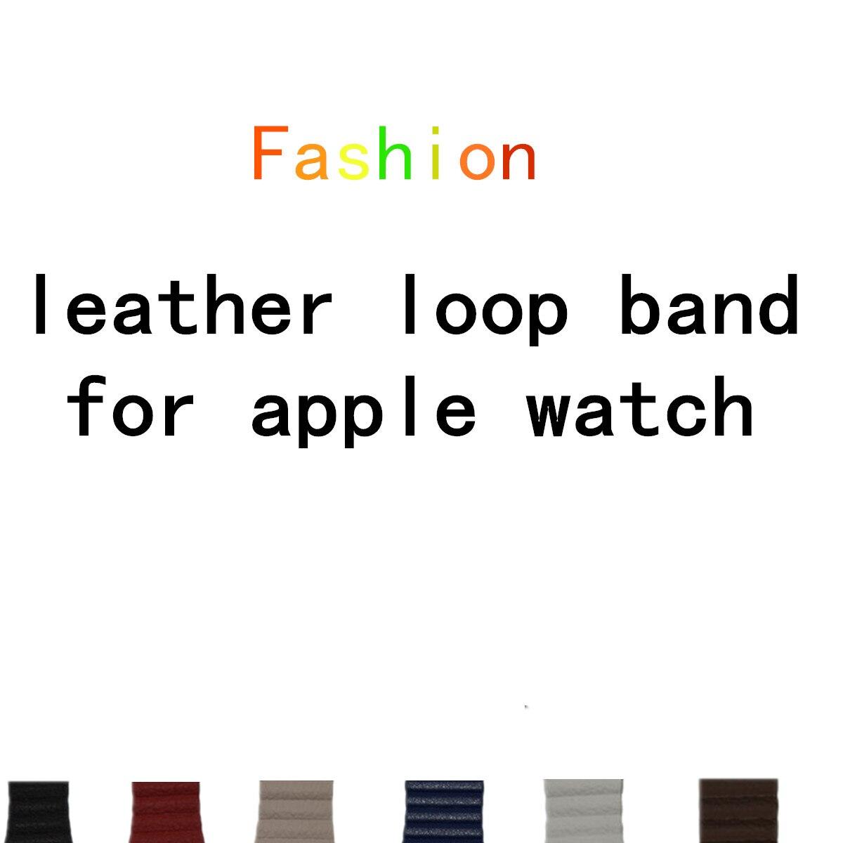 LNOP leather loop band for apple watch band 42 mm/38 strap bracelet & Adjustable Magnetic Closure Loop leather strap