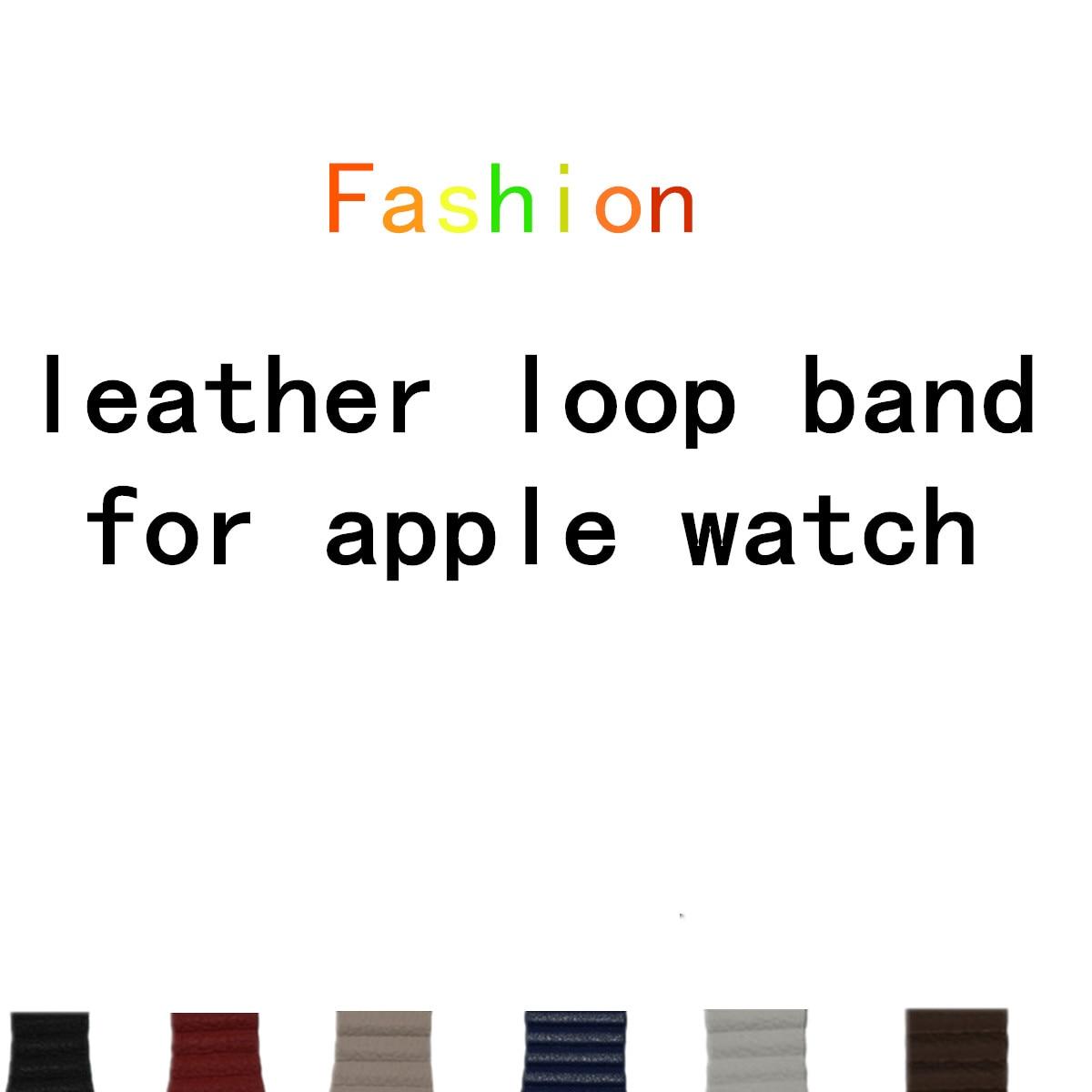LNOP laço de couro faixa de relógio banda para apple 42mm/38 couro strap pulseira & Loop de Fechamento Magnético Ajustável cinta