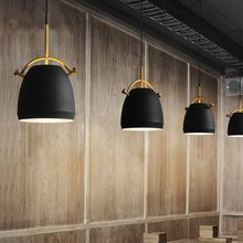 JAXLONG American Retro Cafe Dining Room Pendant Lights Nordic Creative Simple Cafe Restaurant Pot Hanging Lamp Iron Bedroom Lamp multicolor modern creative concise iron pendant light cafe ber bedroom restaurant livingroom decoration lamp free shipping