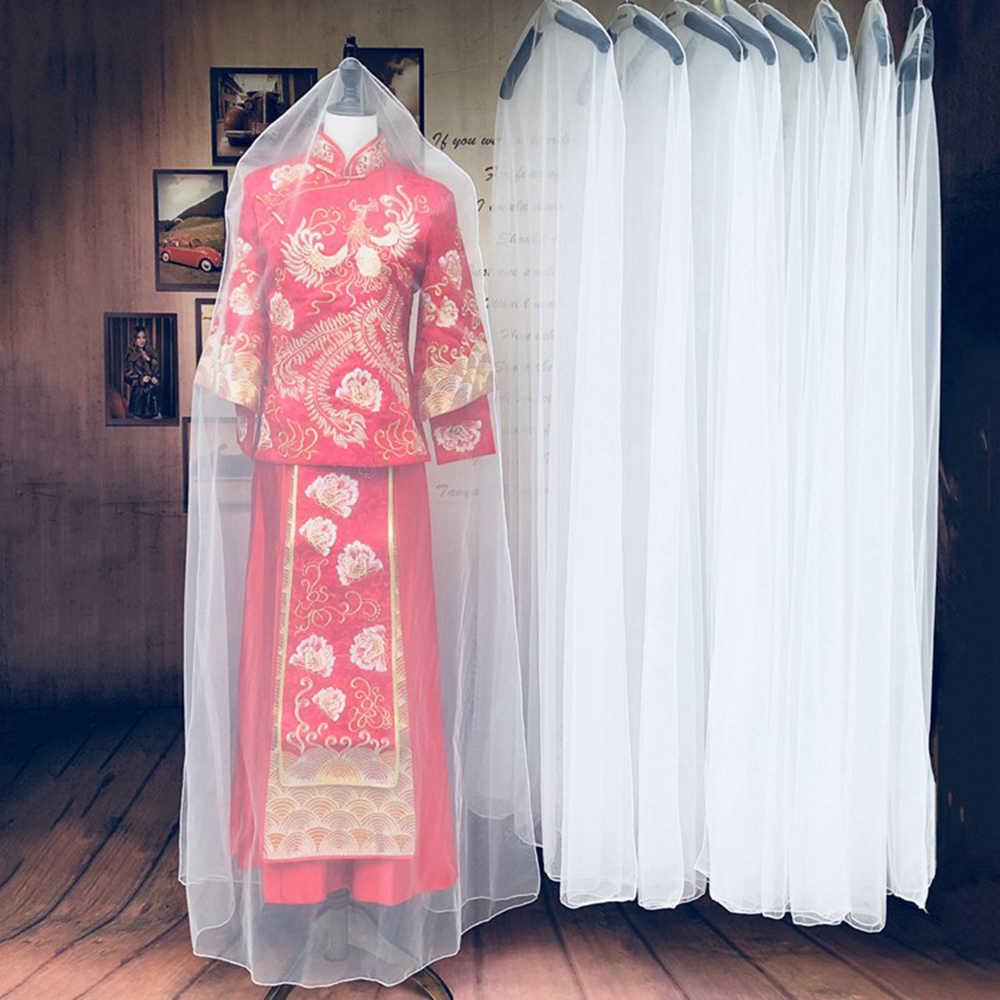 1 шт., чехол для одежды для свадебного платья, пыленепроницаемые Чехлы, сумки для хранения платьев невесты, чехол для одежды, прозрачный чехол для гардероба