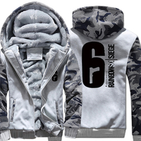 Mens Casual Game Tom Clancy S Rainbow Six Siege Hoodies Zip Up Thick Winter Super Warm