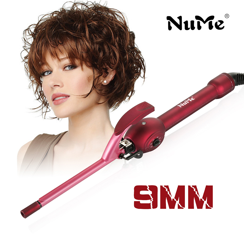 NuMe 9mm curling iron hair curler tongs professional hair curl irons curling wand roller magic care beauty hair styling tools magic hair curling tool electric 1pc hair styling tools hair curler roller pro spiral curling iron wand curl styler eu plug
