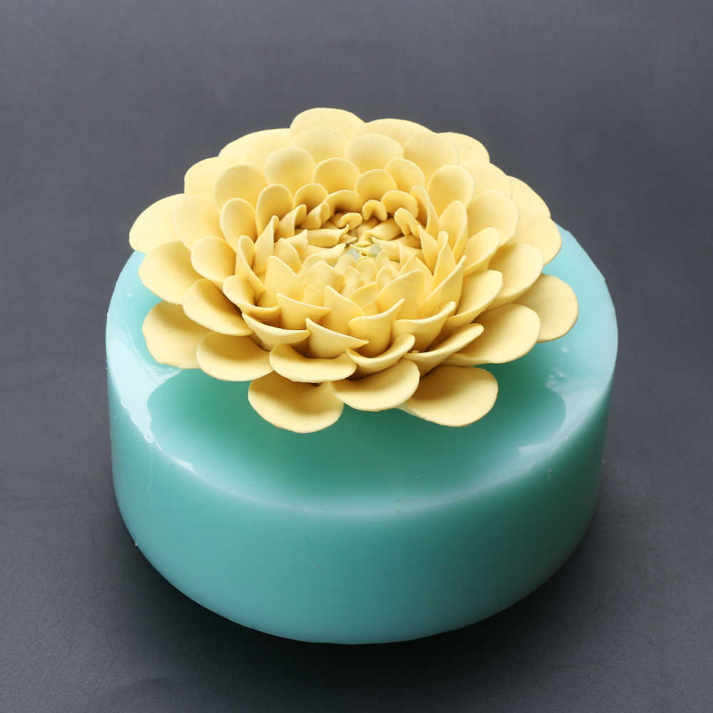 e76e77f9d ... HC0034 Silica gel 3D molds chrysanthemu silicone soap mold daisy candle mold  aroma mould handmade soap ...