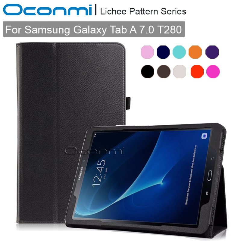 PU leather case for Samsung Galaxy Tab A 7.0 T280 T285 SLIM SMART case for Samsung TabA 7.0 SM-T280 SM-T285 tablet cover it baggage чехол для samsung galaxy tab a 7 sm t285 sm t280 black