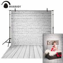 Allenjoy Photographic background Wood brick wall white minimalist newborn photography photocall camera fotografica wood