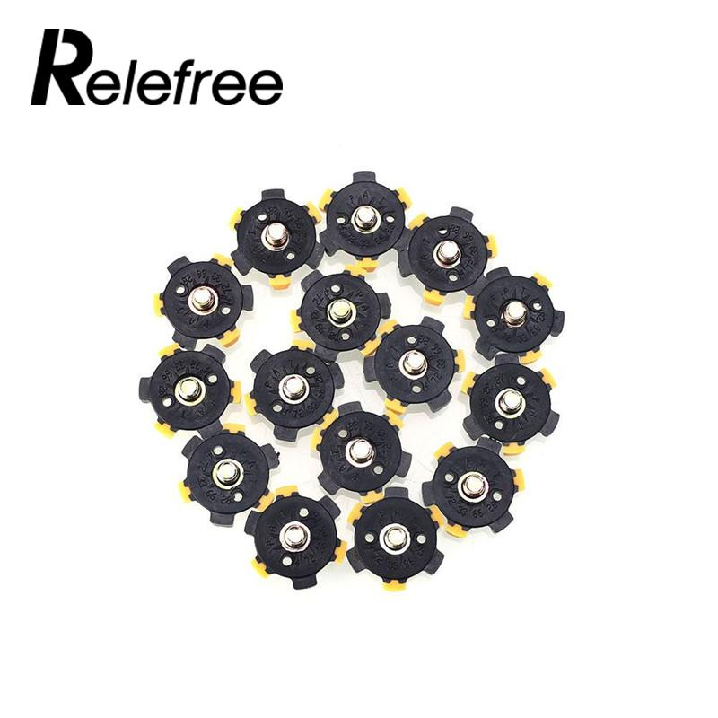 Relefree 14Pcs Practical Golf Shoe Spikes Sports Champ Cleat Screw Fast Twist Foot For J ...