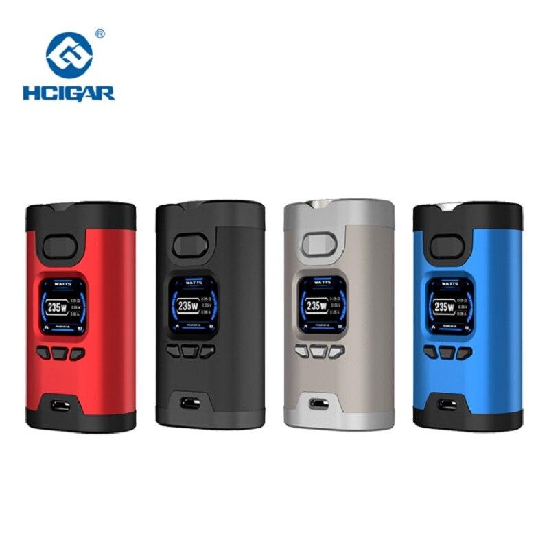 Original HCIGAR Wildwolf 235 watt TC Box Mod Vape Dual 18650 Batterie TFT farbe Bildschirm vape mod Elektronische Zigarette Verdampfen mods
