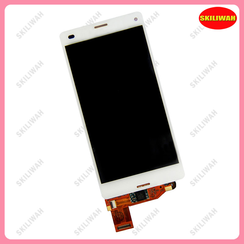 Подробнее о Free Shipping For Sony Xperia Z3 Compact Mini D5803 D5833 LCD Display Screen & Digitizer Glass Assembly White 10pcs free dhl black white lcd display touch screen digitizer assembly with frame for sony xperia z3 mini compact d5803 d5833