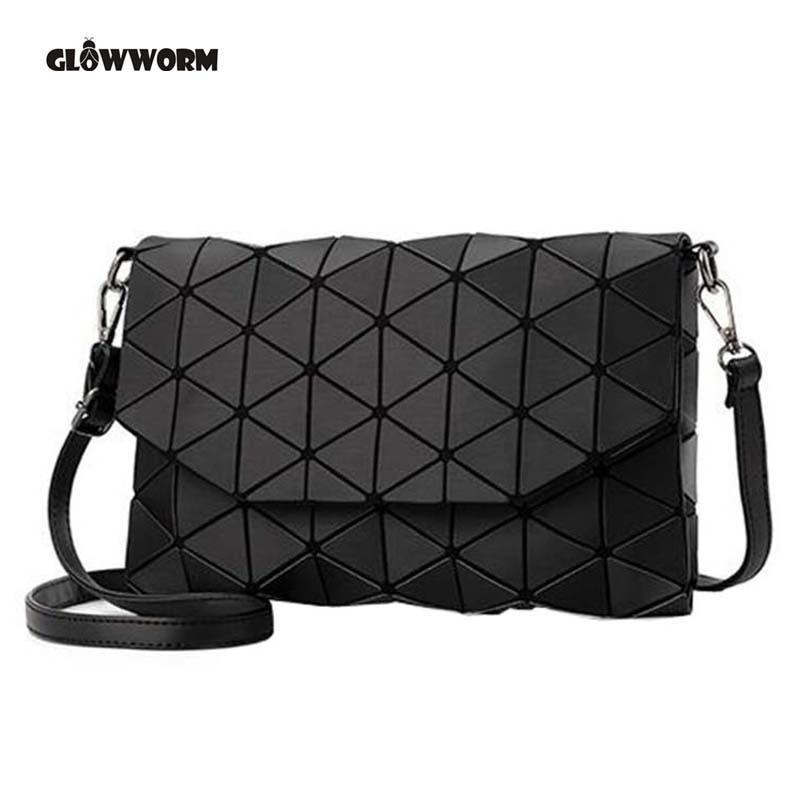 2019 New Small Solid Plaid Geometric Lingge Envelope Handbag Hotsale Women Clutch Ladies Purse Crossbody Messenger Shoulder Bags