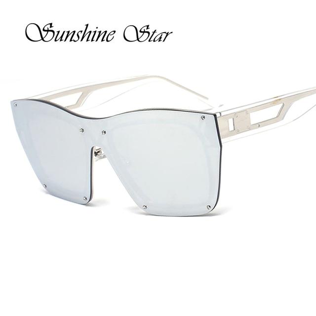 ca326fa519472 Pop Age New Fashion Oversized Rimless Sunglasses Men Women Italy Brand Sun Glasses  Vintage Steam punk Eyewear Oculos 400UV